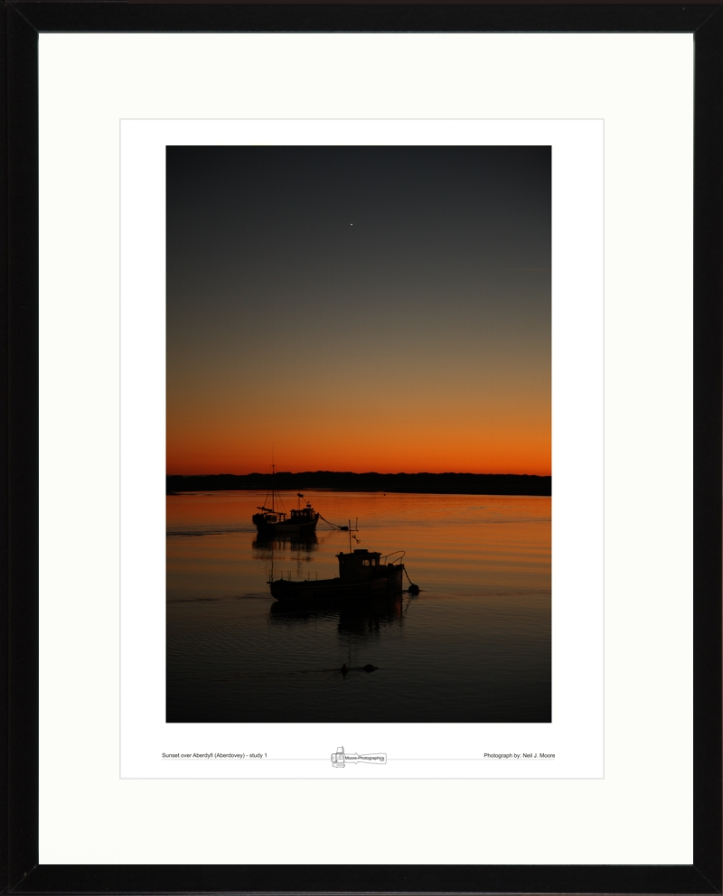 Sunset over Aberdyfi (Aberdovy) study-01