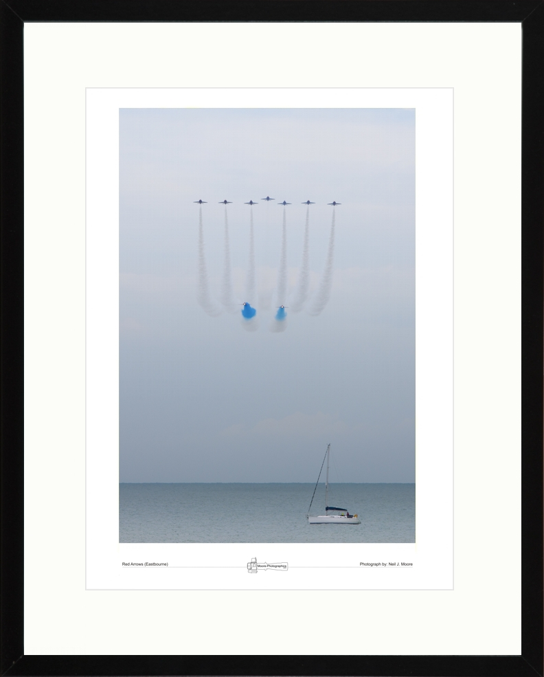 Red Arrows and Yacht