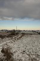 Winter fields with morning frost near Marshfield