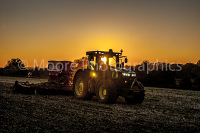 Sunset drilling of SKYFALL wheat using a John Deer 7250 tractor and Simba Horsch Sprint version 2