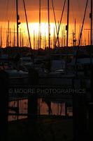 Sunset over Chichetser Marina