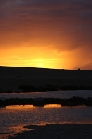 Chesil Beach sunset - detail 1