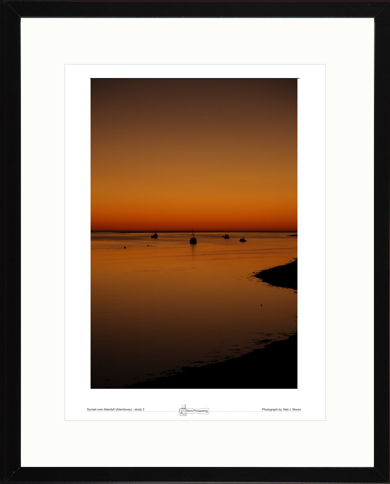 Sunset over Aberdyfi (Aberdovy) study-03