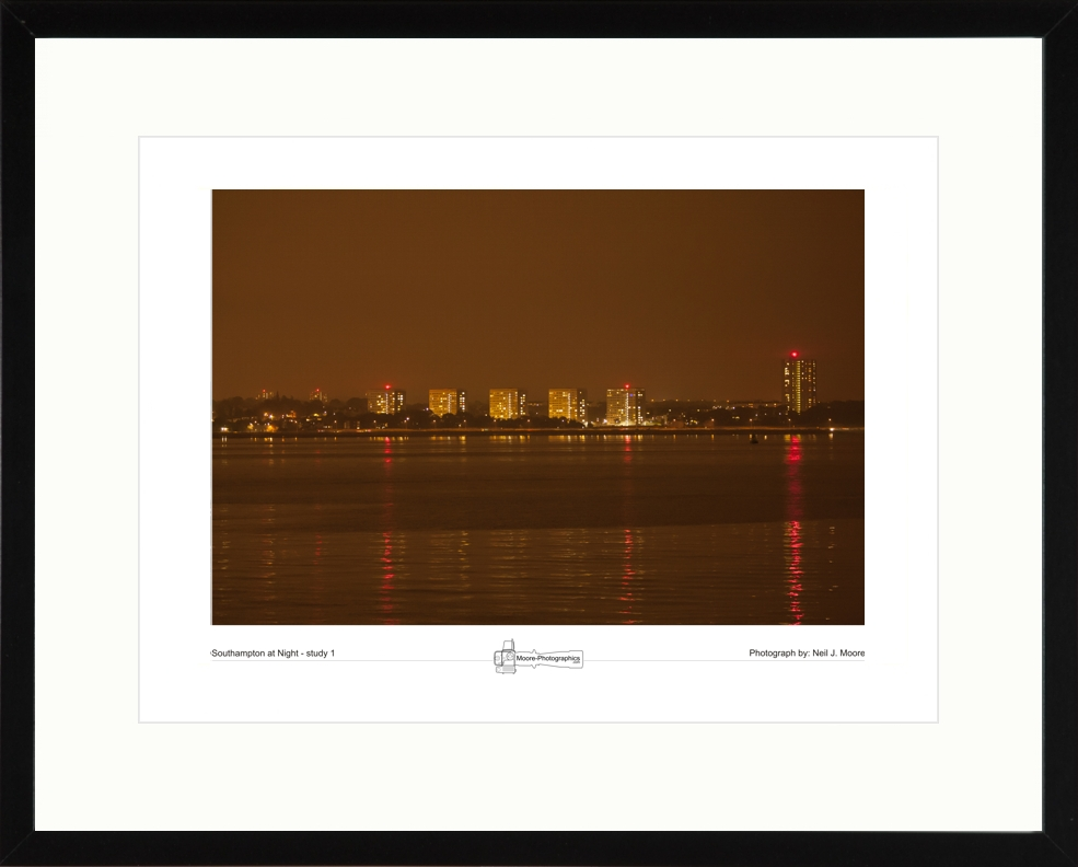 Southampton at Night - study 1