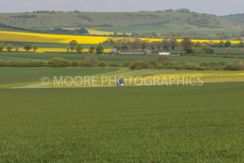 Tractor on filed in Vale of Pewsey