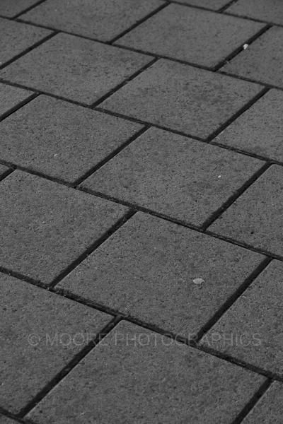 Diagonally along the path
