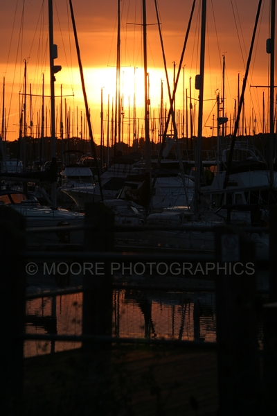 Sunset over Chichetser Marina