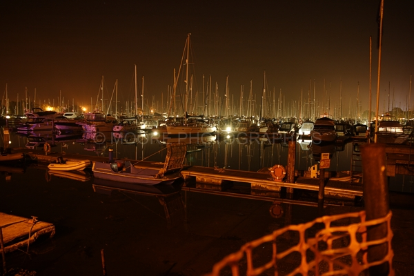 Chichester Marina at night
