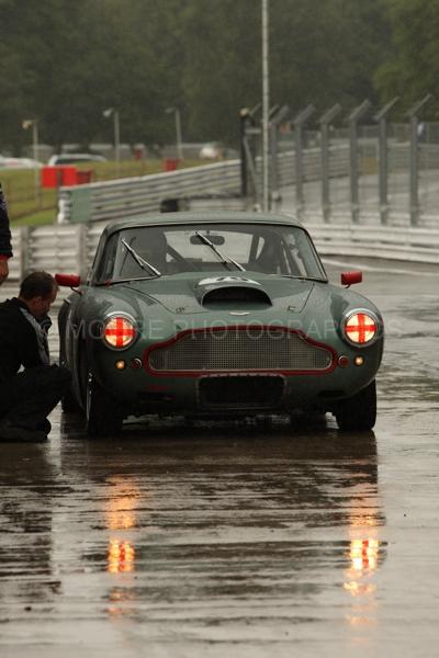 Racing Aston Martin in the wet!